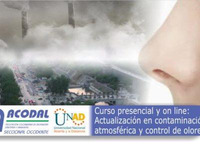 Curso presencial y Online: Actualización en contaminación atmosférica y control de olores