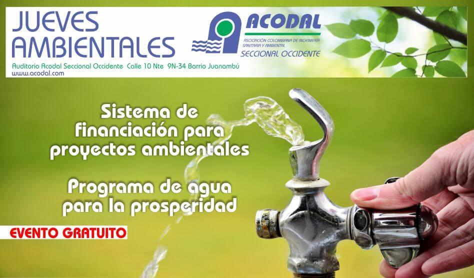Sistema de financiación para proyectos ambientales – Programa de agua para la prosperidad 1 de junio de 2017