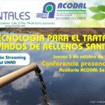 JUEVES AMBIENTALES ACODAL – Nueva tecnología para el tratamiento de lixiviados de rellenos sanitarios – 5 de Octubre 2017